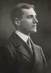 Black and white photographic portrait of James Cyril Dalmahoy Allan