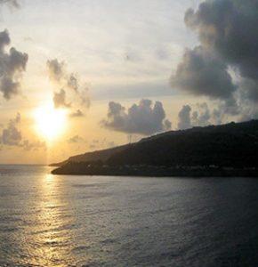 Sun set on Christmas Island