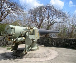 6 inch ex-naval gun on Christmas Island