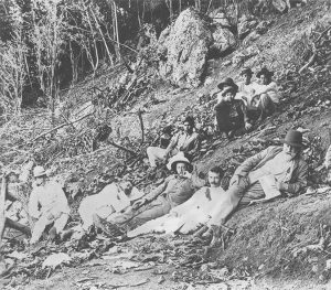 Lewis Hare Clayton and Sir John Murray with others on Christmas Island
