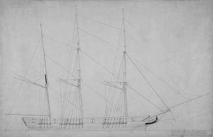 A technical drawing of the Vice Admiraal Rijk