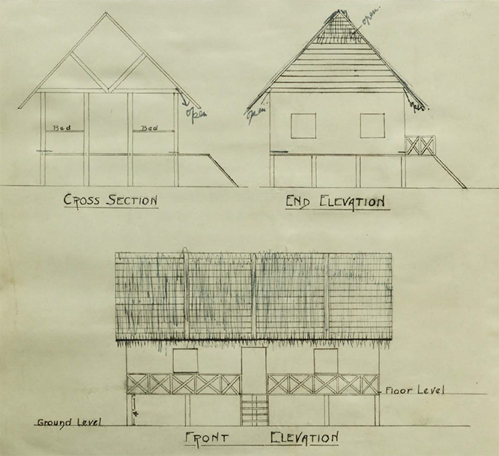 Sketch plans of a coolie house