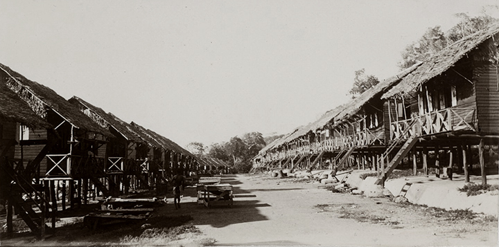 Coolie lines in Settlement area 1905