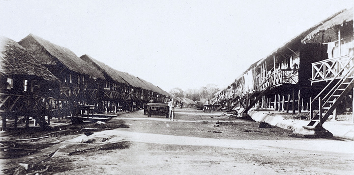 Coolie lines in Settlement area 1908
