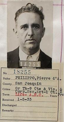 Peter Grimes mugshot 1933
