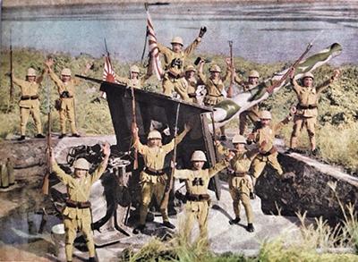 """Japanese marines at the 6"""" gun"""