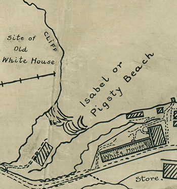 Map showing the location of the White House