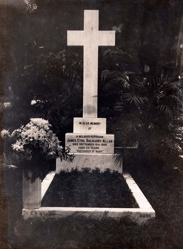 Headstone of Dr Allan